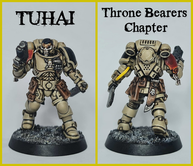 Tuhai of the Throne Bearers Chapter (Games Workshop Warhammer 40,000 First Strike Starter Set Primaris Space Marine Reiver Sergeant)