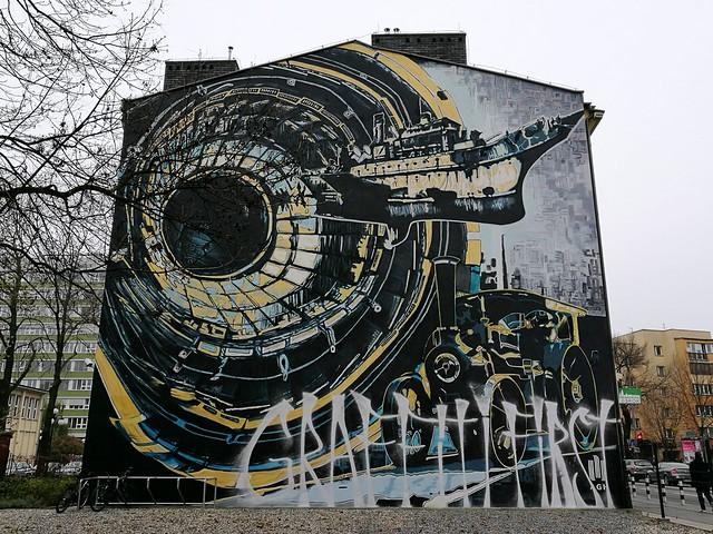 Pack, interwencja na muralu AGH