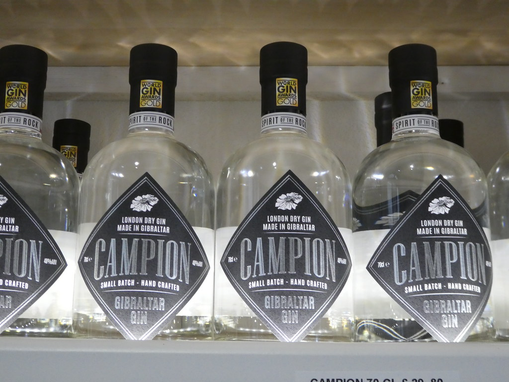 Campion Dry London Gin, Spirit of the Rock, Gibraltar