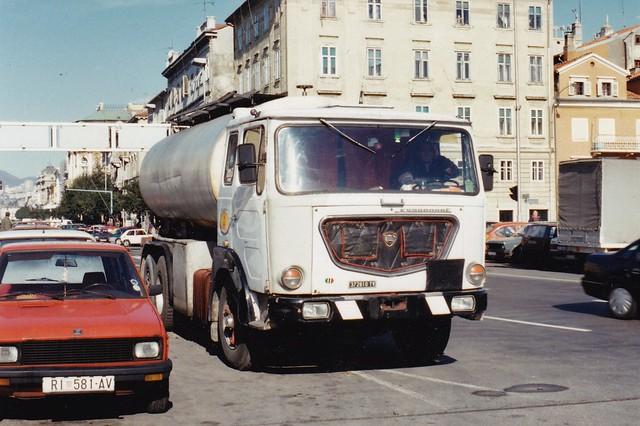 Lancia Esagamma E 6x2 Tanker Rijeka Croatie Hrvatska 1995a