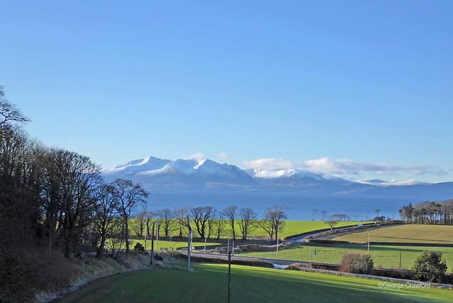 Arran Snow from West Kilbride1