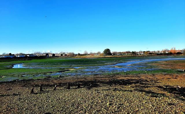 Eastney Lake at low tide, Portsmouth