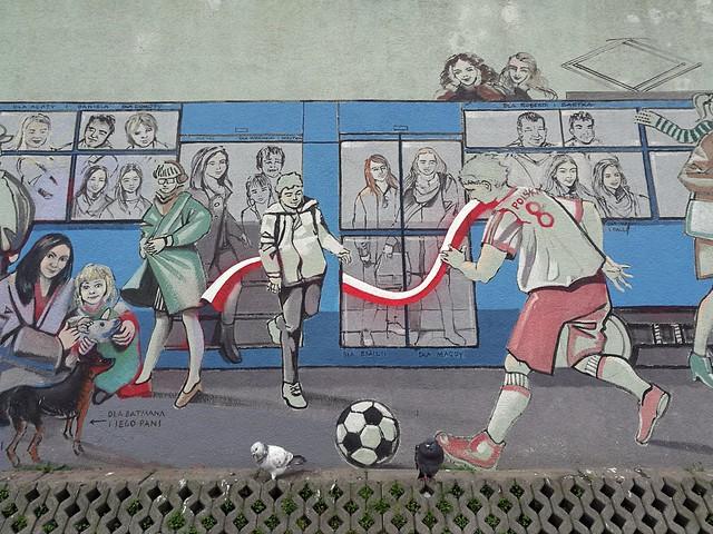 Pack, interwencja na muralu Tomasza Wełny naprawiona