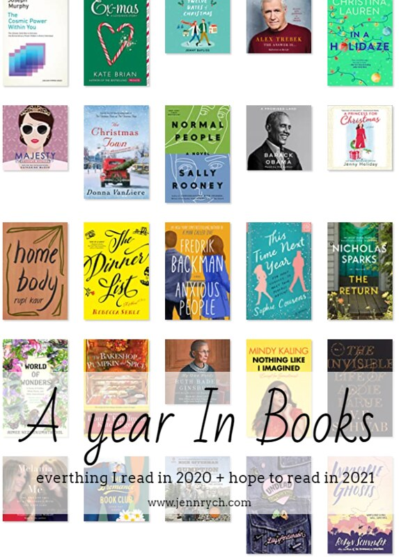 Books I read in 2020 & Books I want to read in 2021 | www.jennrych.com