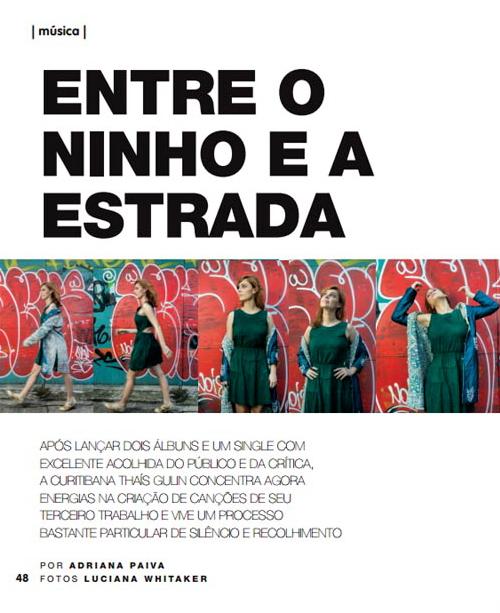 Música cantora cantoras MPB música entrevistas perfis Thaís Gulin por Adriana Paiva