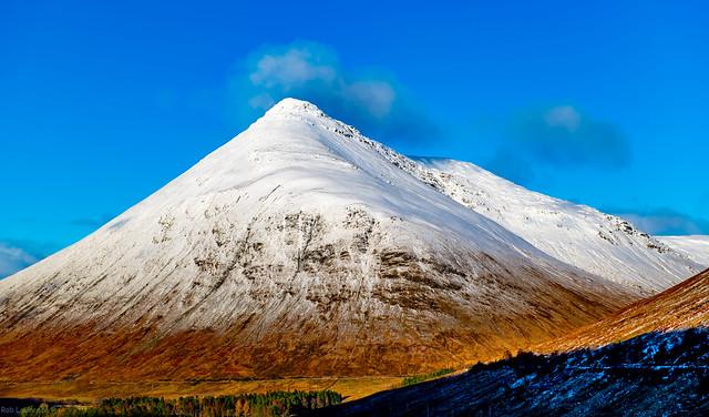 Beinn Odhar on The A82 past Tyndrum Scotland.