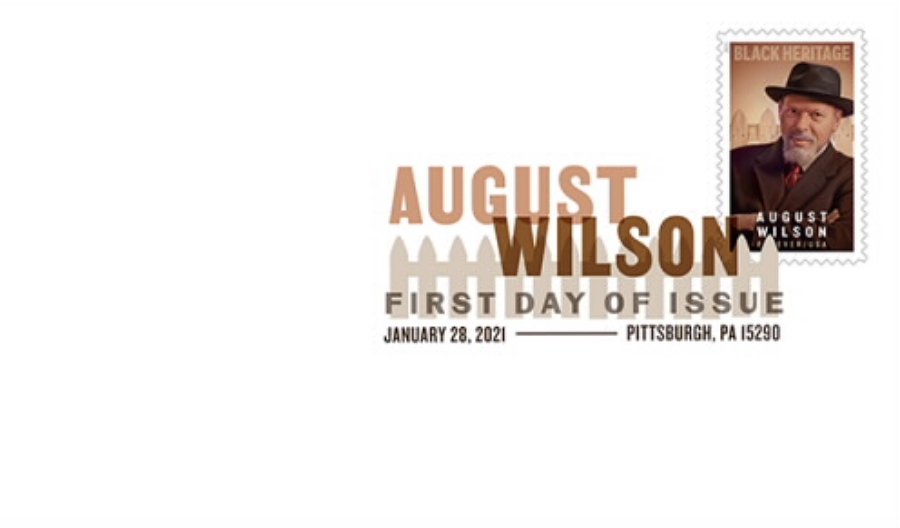 United States: Black Heritage - August Wilson (first day cover, digital color postmark)
