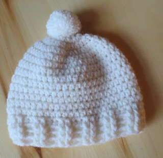 Crocheted Double Post Baby Hat