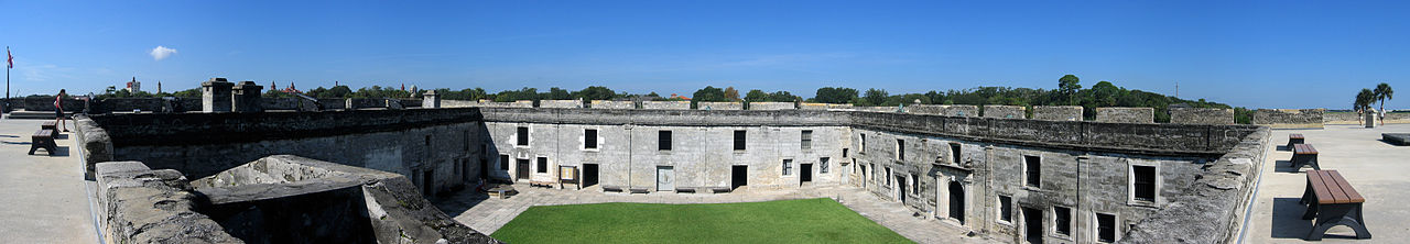 View of the Plaza de Armas within Castillo de San Marcos.