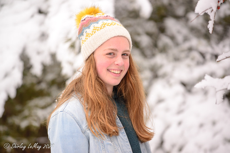 Michelle in the Snow
