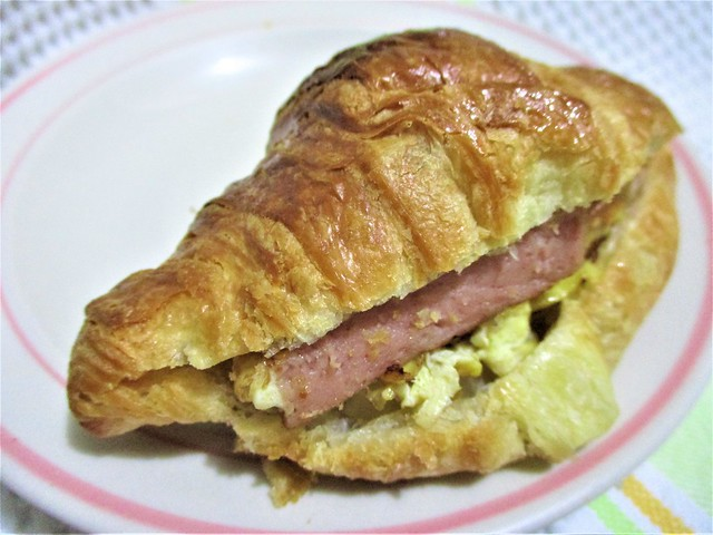 With Korean luncheon meat, onion & egg