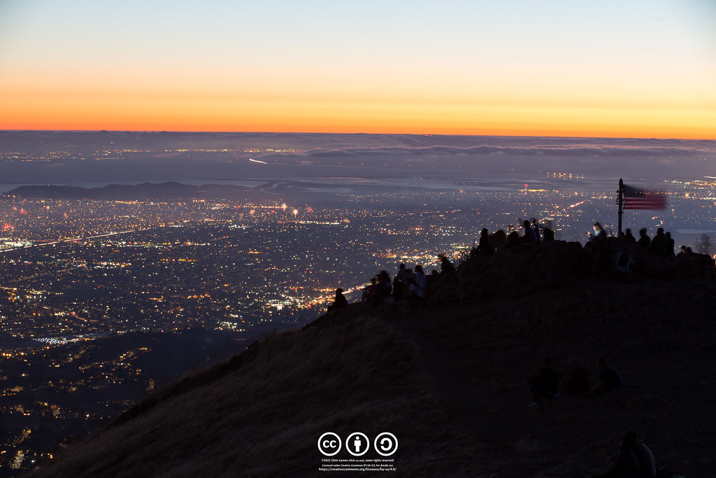 Fourth of July Sunset at Mission Peak