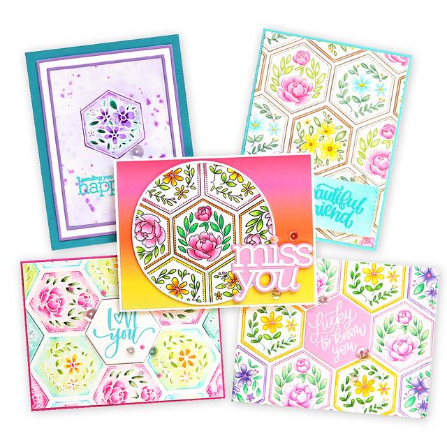 5 cards together