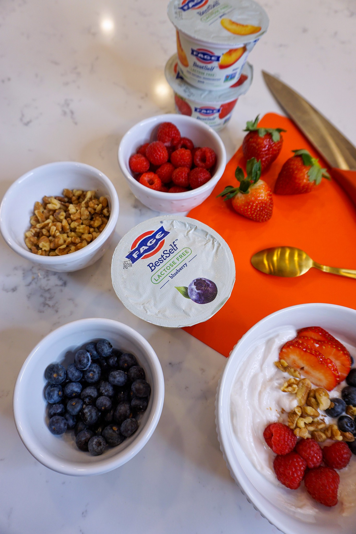 Easy Yogurt Parfait Recipe made with FAGE BestSelf Lactose Free Yogurt.