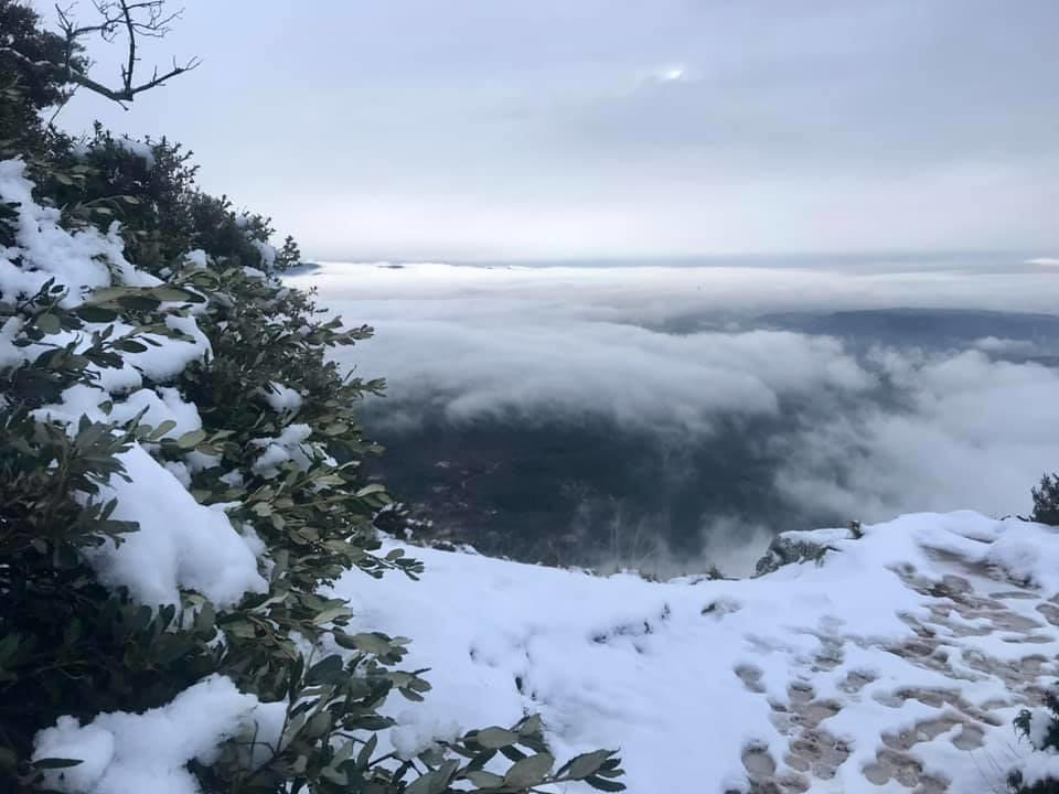 Montagne Ste Victoire enneigée 2 janvier 2020