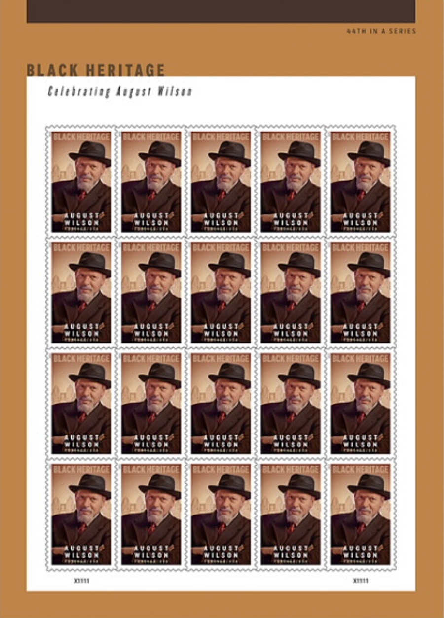 United States; Black Heritage - August Wilson, 24 January 2021 (full sheet of 20 stamps)