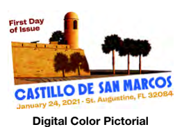 United States: Castillo de San Marcos, 24 January 2021 (digital color postmark)