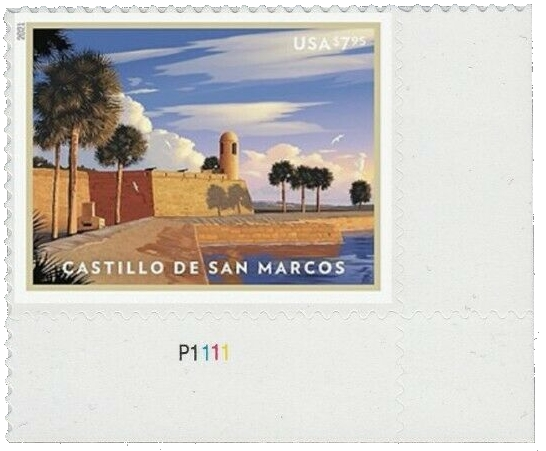 United States: Castillo de San Marcos, 24 January 2021 (plate number single LR)