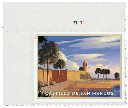 United States: Castillo de San Marcos, 24 January 2021 (plate number single UL)