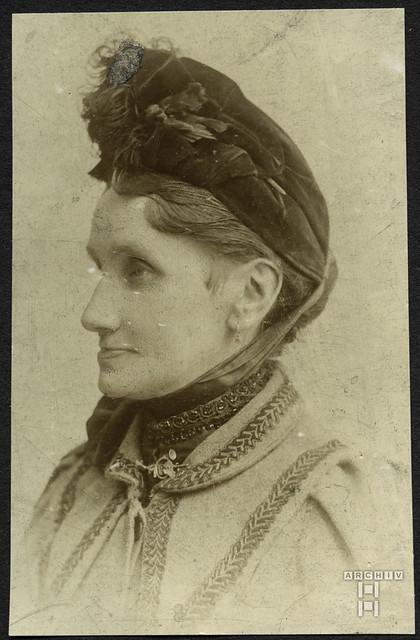 ArchivTappen2AAl2d289 Porträt, Frau Mit Hut, 1900-1930er