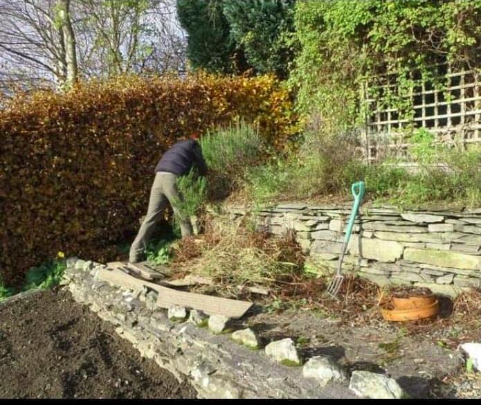 Helping in a friend's garden