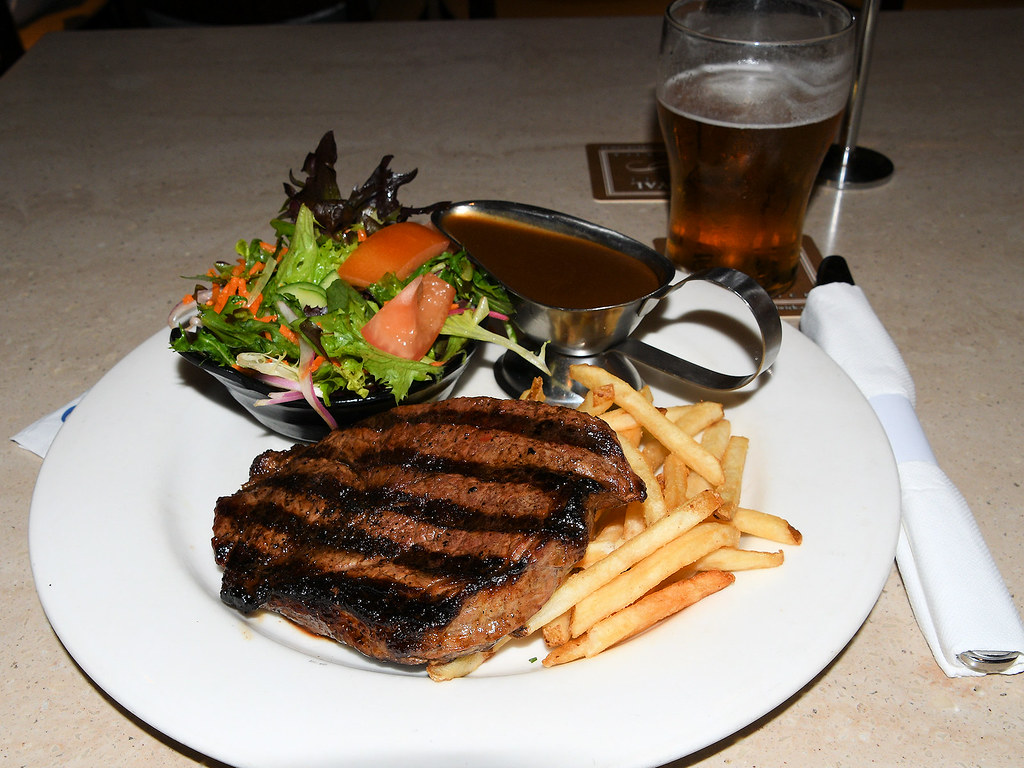 Sirlion Steak, Royal Hotel, Randwick, Sydney, NSW.