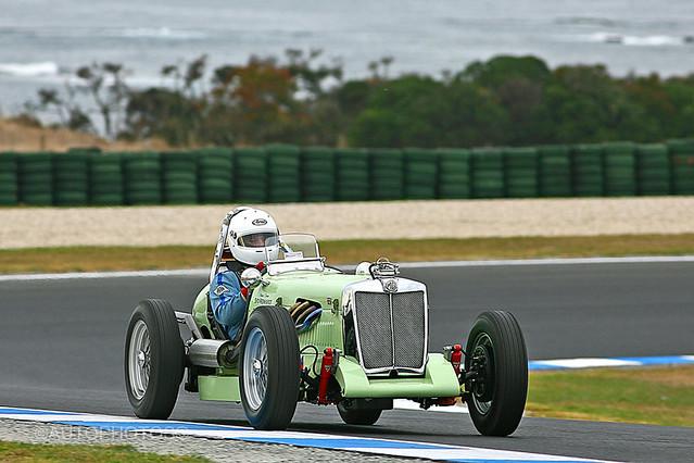 Syd Reinhardt - 1949 MG TC S/C Special - Phillip Island Classic 2008 - RL4D6349