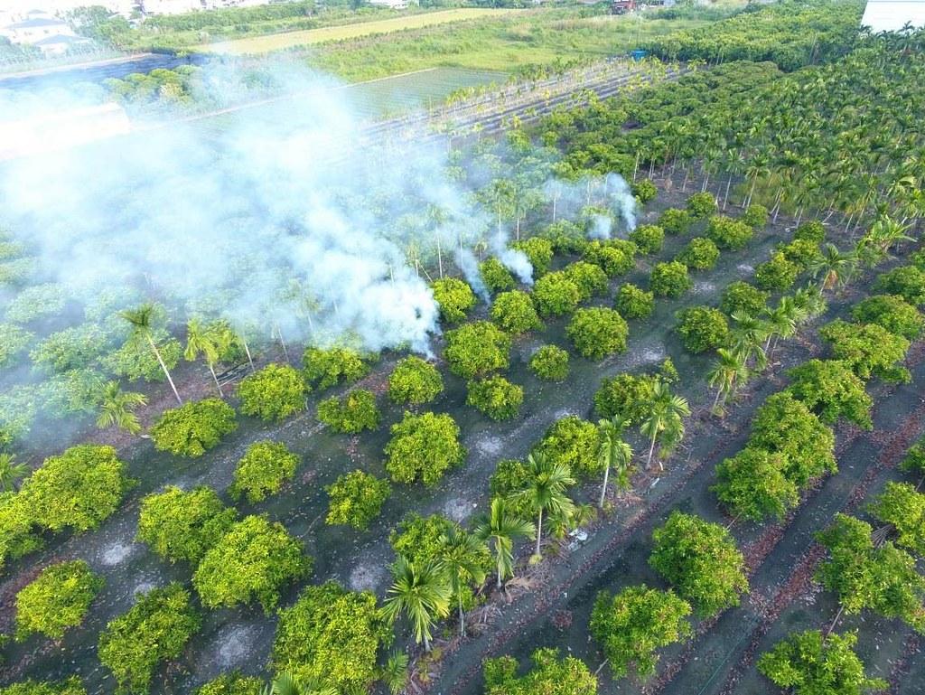 露天燃燒導致空氣污染。圖片來源:屏東縣環保局