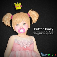 Presenting the Button Binky from Jester Inc.