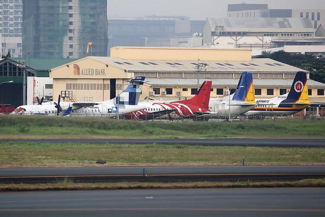 Rotting planes in Manila.