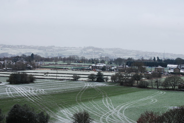 Tracks on farmland