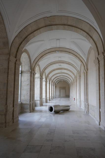 Cloître, Museo Patio Herreriano de Arte contemporáneo español, 2002, paseo de Isabel la Católica, Valladolid, Castille-Léon, Espagne.