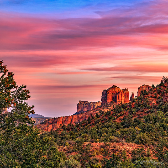 Winter Holiday Colors in Sedona