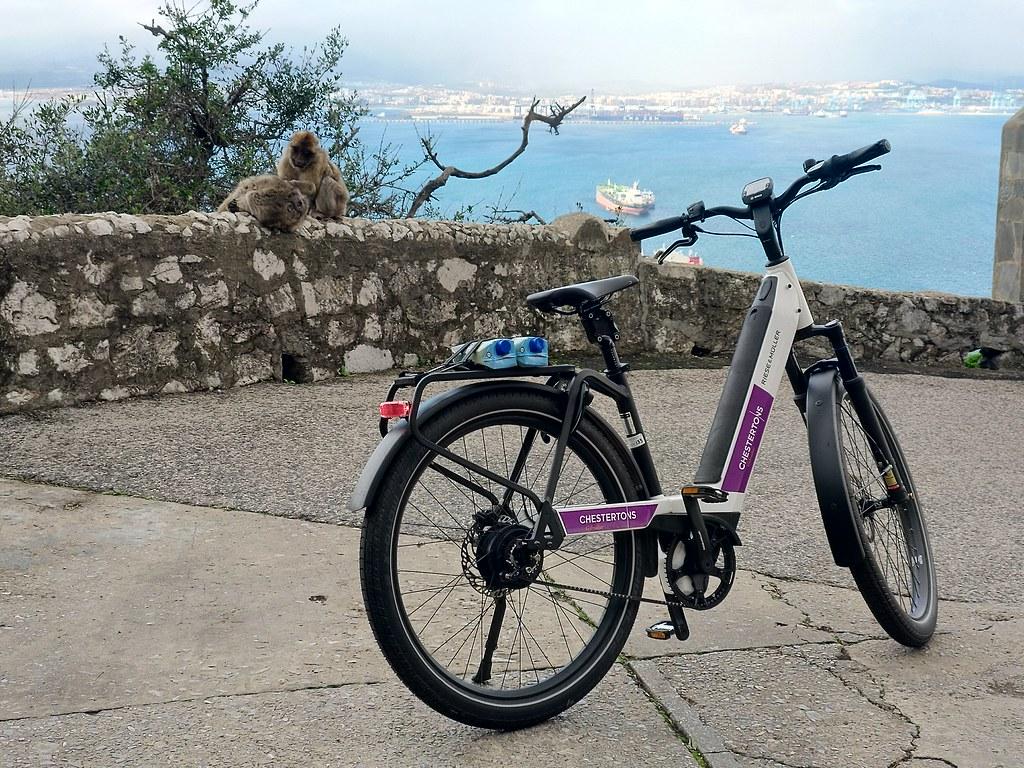E-bikes and monkeys, Gibraltar