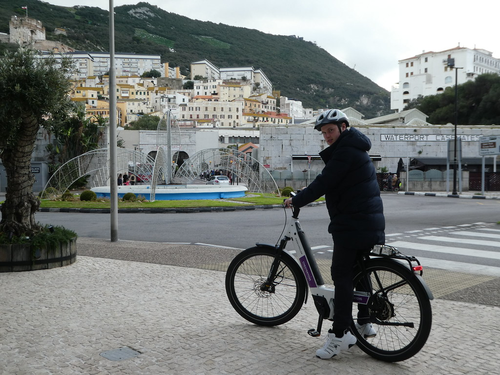 Setting off from EBike Gibraltar