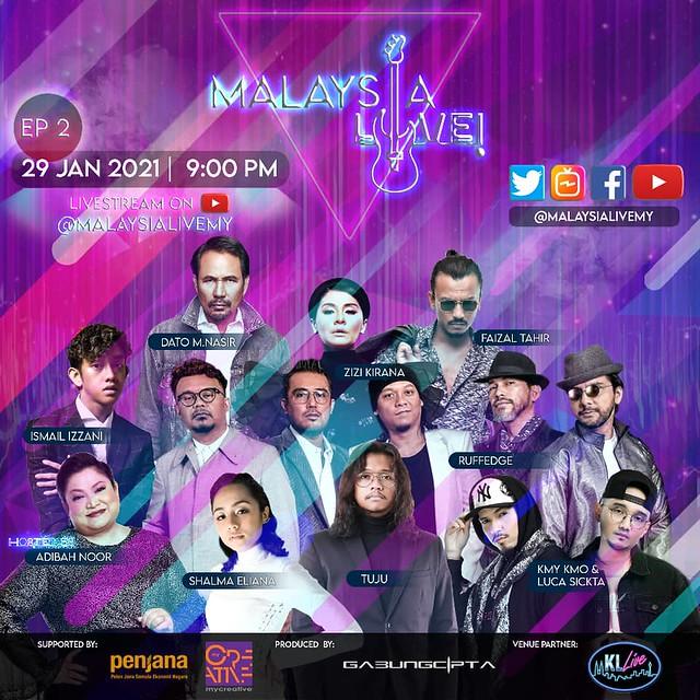 Konsert MALAYSIA LIVE! Siri Koncert Atas Talian Tampilkan Penyanyi Popular