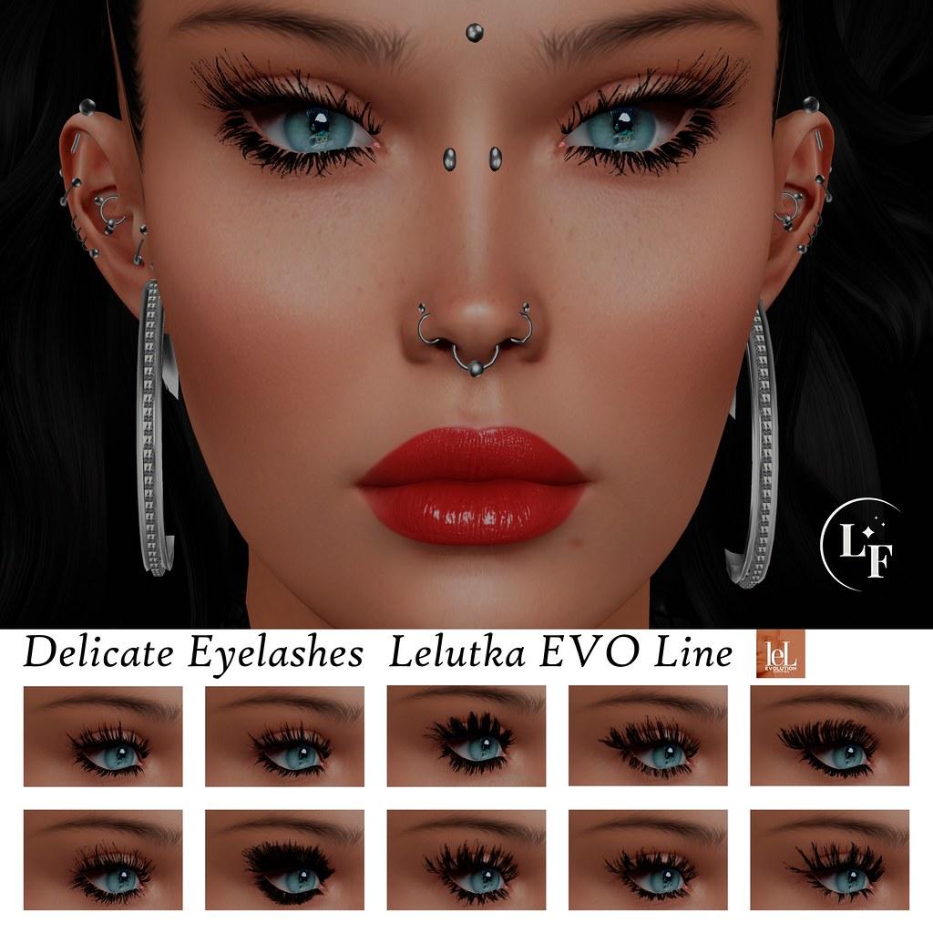 """""""Lupus Femina"""" Delicate Eyelashes – Evo Line Lelutka"""