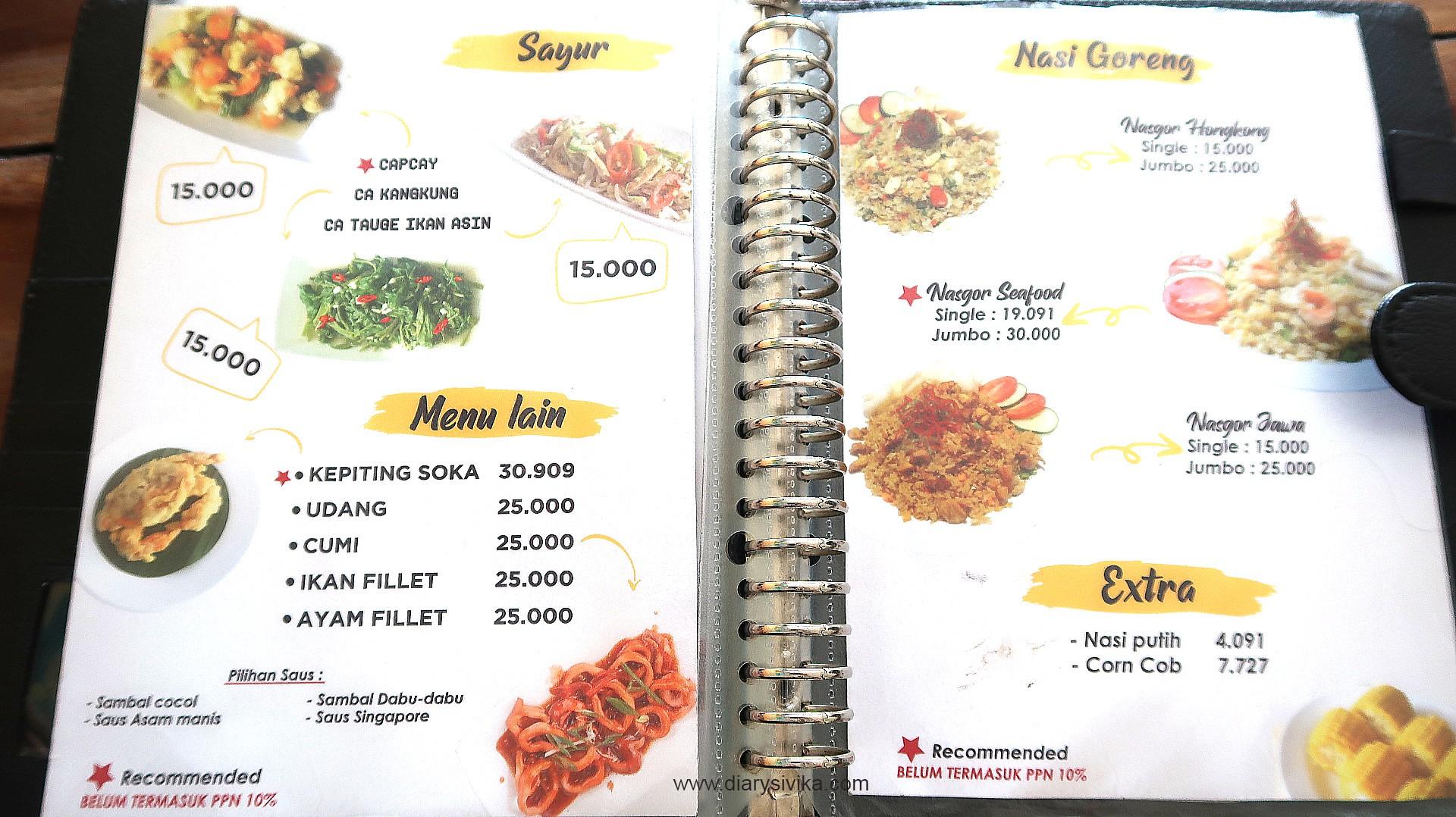 menu kepiting bang jai