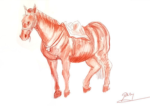 Master study of horse by Rubens