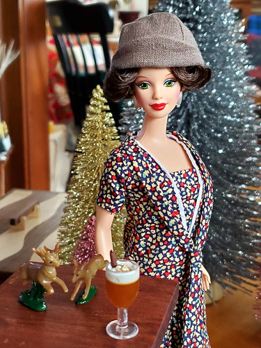 This is one of those times when a doll gets the ultimate outfit and you don't need to change it, ever, except for Christmas when she'll wear her original outfit.