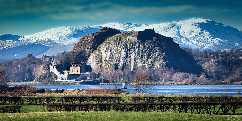 Dumbarton Rock and the Lomond Mountains