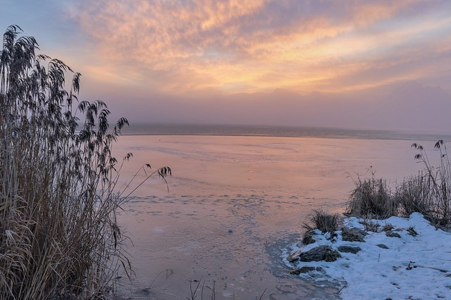*Winter am Hopfensee @ goldene Stunde*
