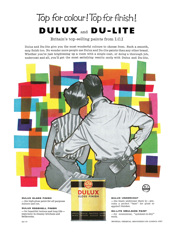 I.C.I. Dulux and Du-lite Paints - 1960