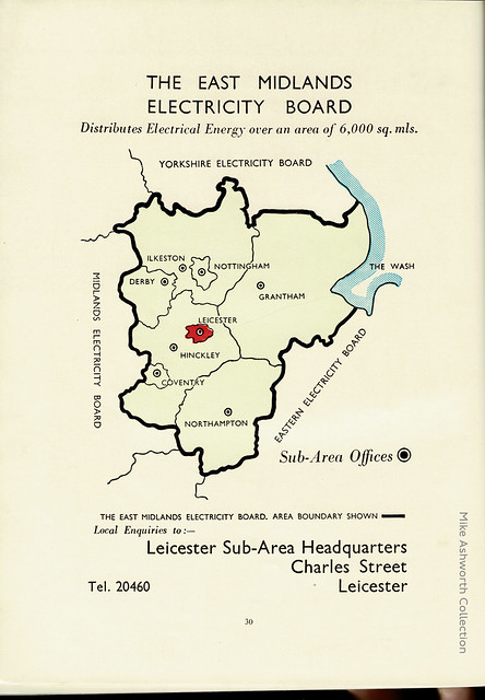 East Midlands Electricity Board advert, c1955