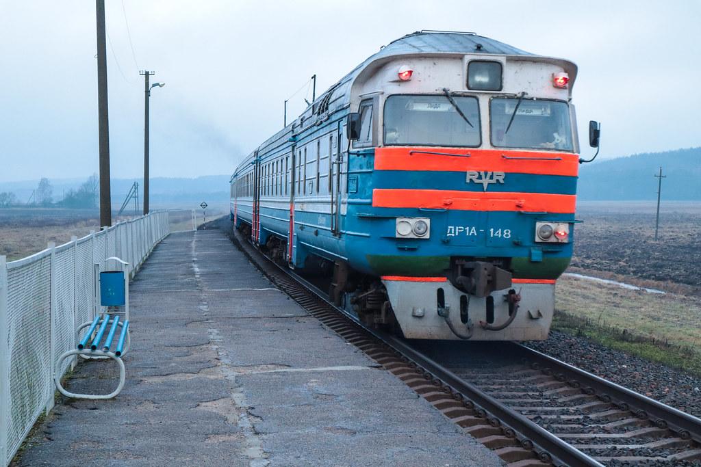 ДР1-A на маршруте Барановичи-Лида на о.п.Молчадь