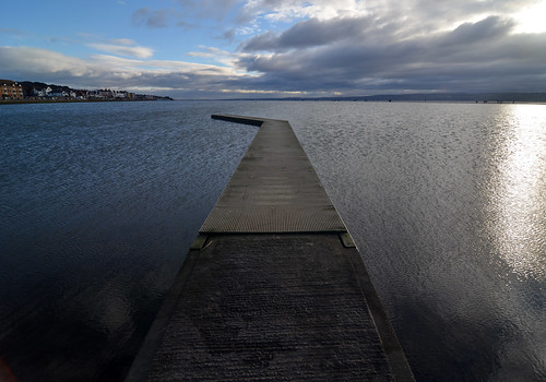 West Kirby jetty as the sun goes down