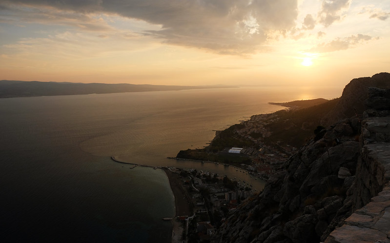 view from the Fortica, Omiš, Croatia