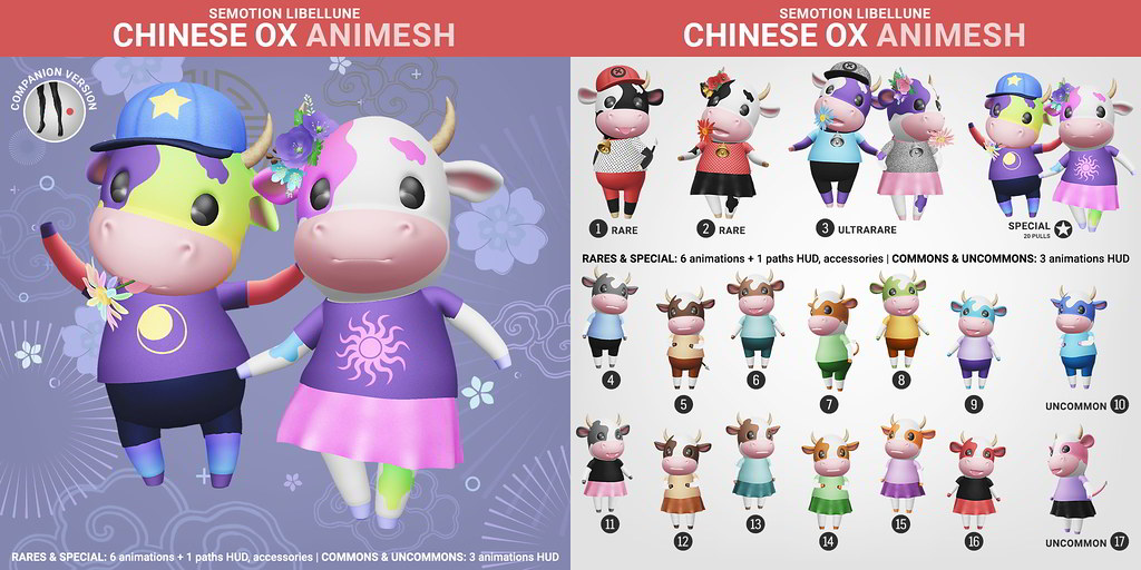 SEmotion Libellune Chinese Ox Animesh