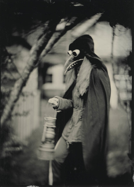 Arrival of the plague doctor