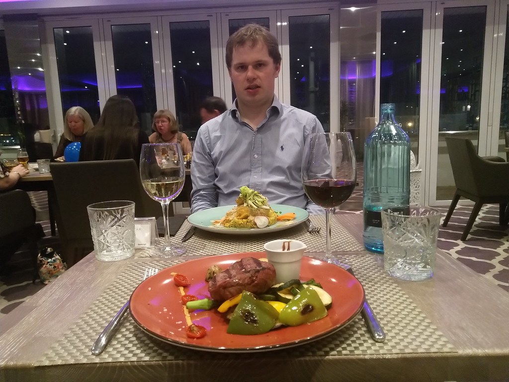 Dining in the Barbary Restaurant, Sunborn Yacht Hotel Gibraltar